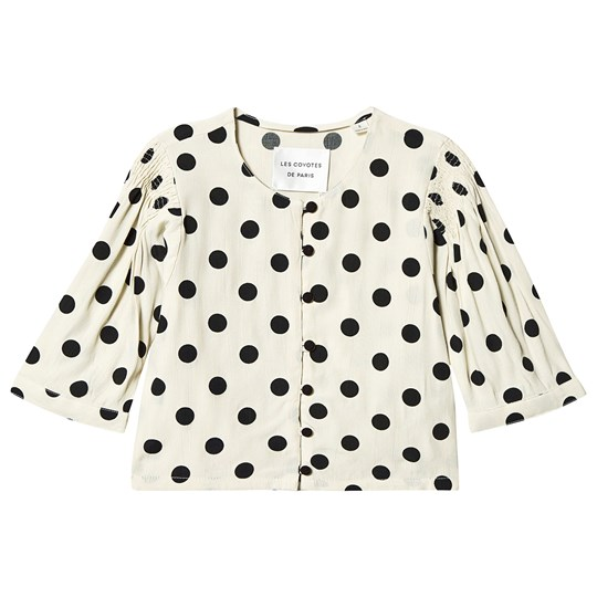 Les Coyotes De Paris Char Blouse Cream Big Dot