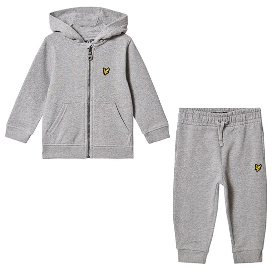 Lyle & Scott Grey Heather Hoodie & Jogger Infants Set G59