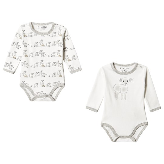 Fixoni 2-Pack Lamb Baby Body Off White Off white