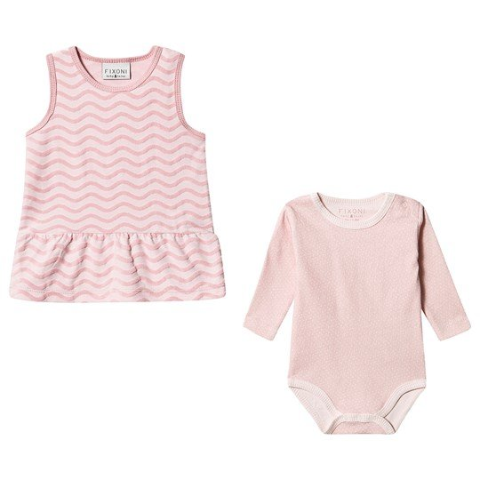 Dress and Baby Body Set Zephyr Pink