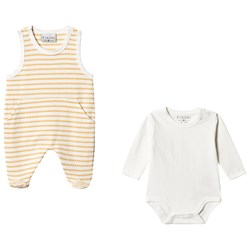 Fixoni Baby Body Set Off White/Gul