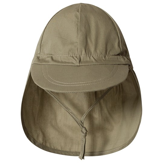 Melton Cap w/neck - Solid colour Dark Olive DARK OLIVE
