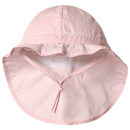 Melton Hat w/neck & bow - Solid col Baby pink Baby Pink