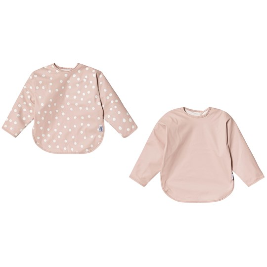 Buddy & Hope Bib with Arms 2-Pack Pink