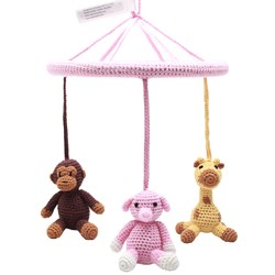 natureZOO Monkey, Giraffe and Elephant Circle Mobile