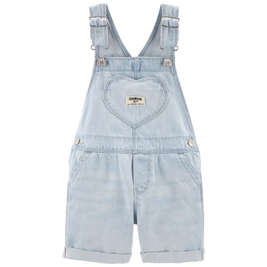 OshKosh Patch Overalls Bleached Bright DENIM (463)