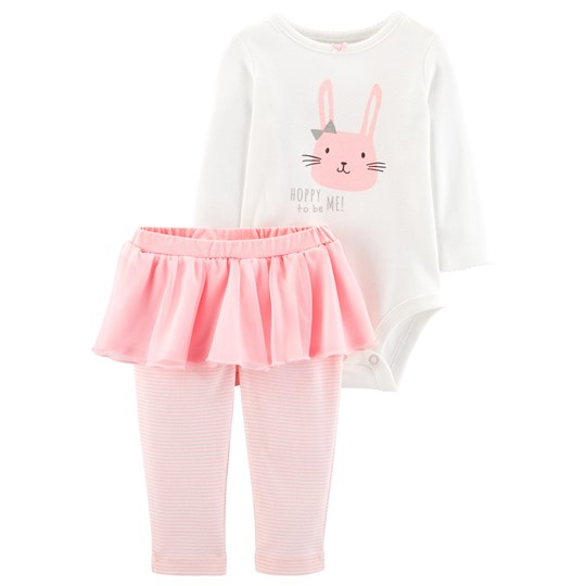 Carter's Bunny Baby Body and Tutu Leggings Pink/White IVORY (153)