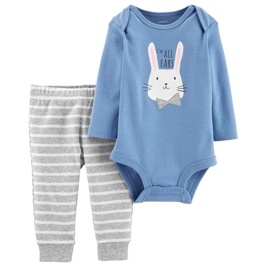 Carter's Bunny Baby Body och Leggings Set Blå/Grå BLUE (420)