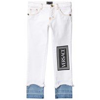 01e51d4d Versace White Branded Double Layer Jeans Y4855