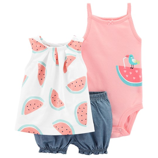 Carter's Watermelon Little Bubble Shorts Set Pink PRINT (969)