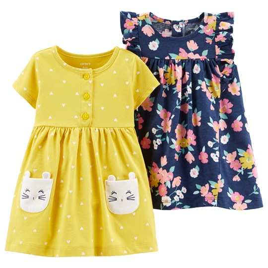 Carter's Jersey Dress Set Yellow/Navy PRINT (969)