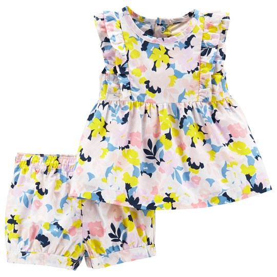 Carter's Floral Top and Shorts Set Pink/Blue PRINT (969)
