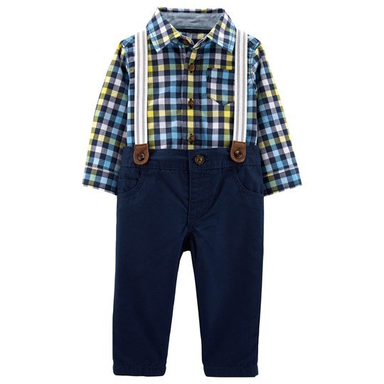 Carter's Shirt and Twill Pants Set Navy PLAID (981)