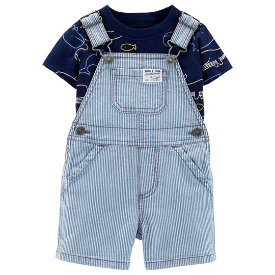 Carter's Whale Tee and Overalls Set Blue PRINT (969)