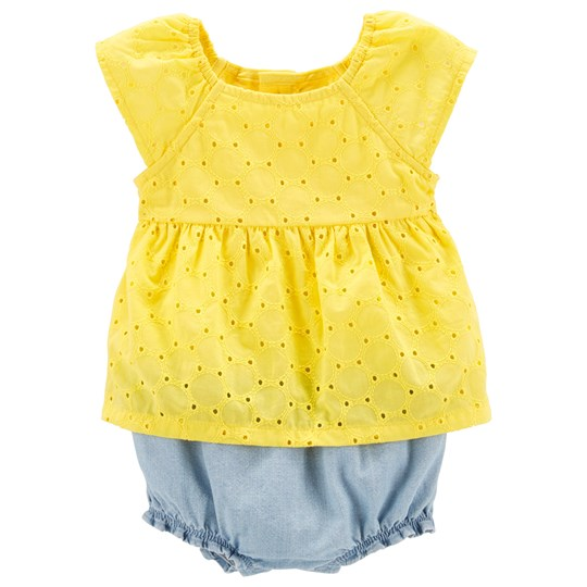 Carter's Lemon Eyelet Romper Yellow YELLOW (700)