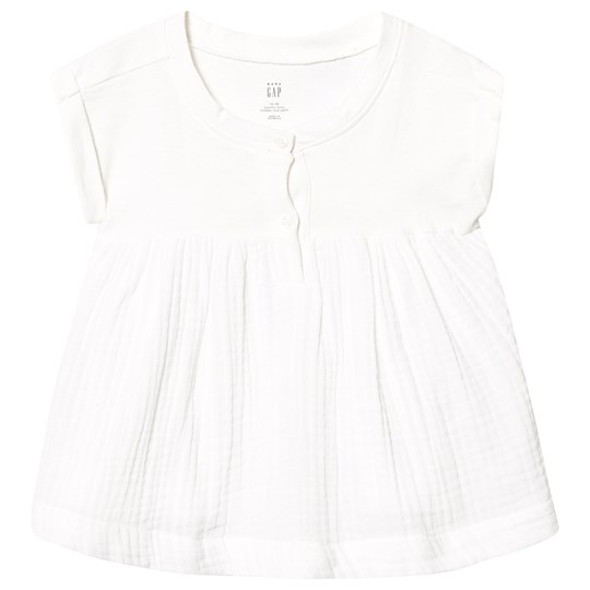 Gap Henley Empire Top New Off White NEW OFF WHITE