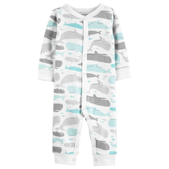 Carter's Whale Snap One-Piece White/Mint PRINT (969)