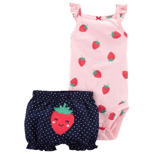 Carter's Strawberry Baby Body and Shorts Set Pink/Navy PRINT (969)