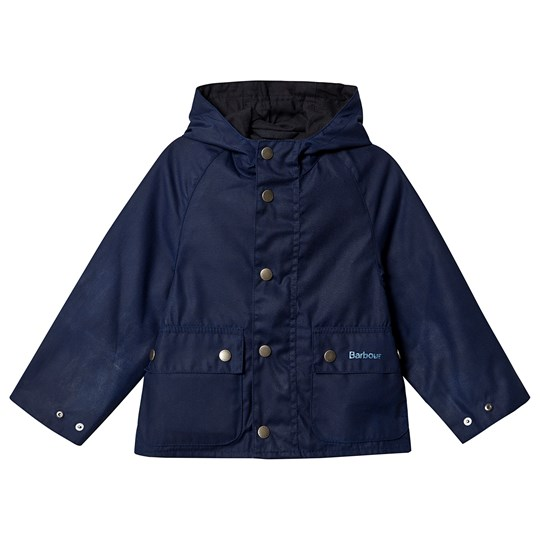 Barbour Pass Wax Jakke Regal Blue Blue