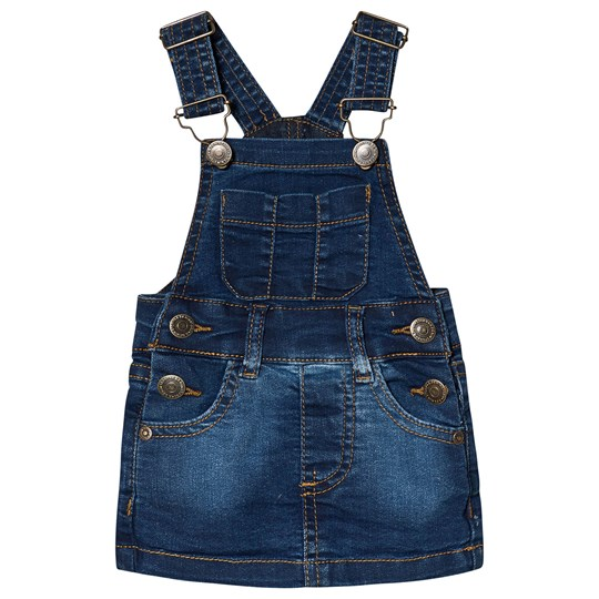 A Denim Story DUNGAREE DRESS BLUE DENIM