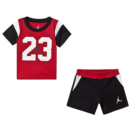 Air Jordan Red and Black Iconic 23 Top and Bottom Set 023