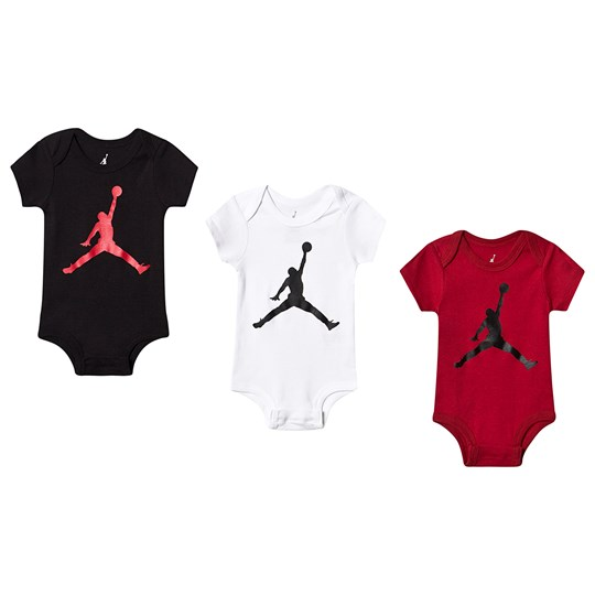 07eaa4d829d8 Air Jordan - Pack of 3 Jumpman Logo Baby Body Black White Red ...
