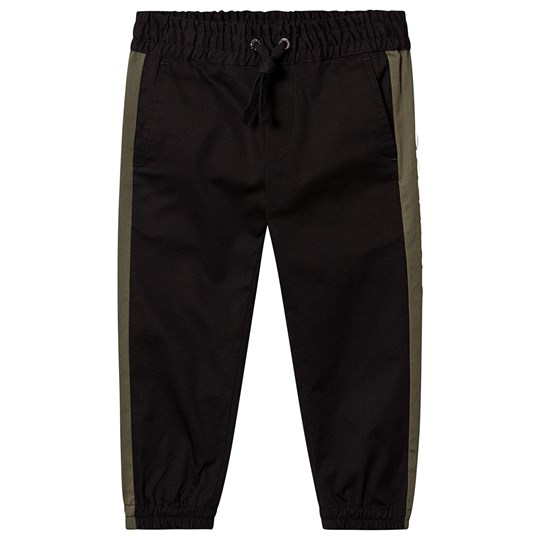Dolce & Gabbana Black Trousers with Rubber Side Logo N0000