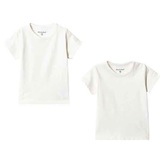 Minymo 2-Pack Basic Tees White White