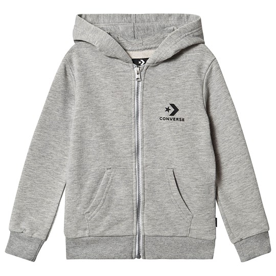 Converse Grey Heather Logo Full Zip Hoodie 042