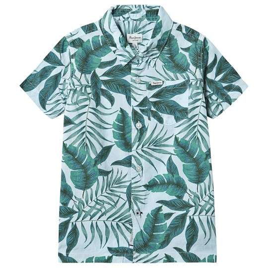 Pepe Jeans Green Floral Eliot Short Sleeve Shirt 0AA