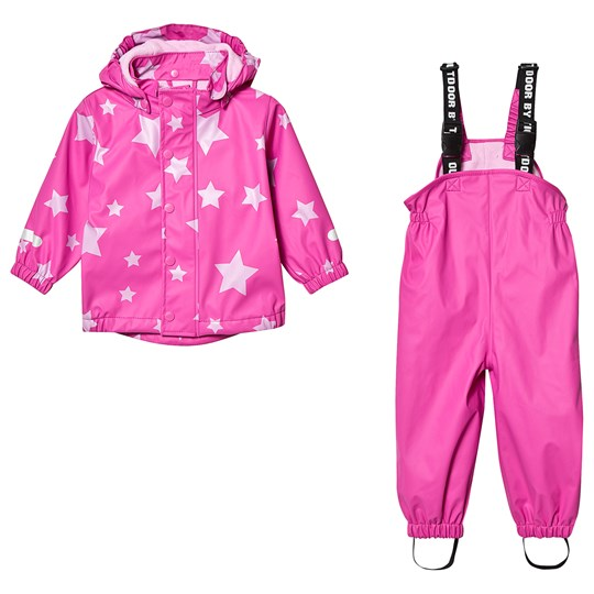 Ticket to heaven PU Rain Set With Fleece Allover Raspberry Rose Raspberry Rose