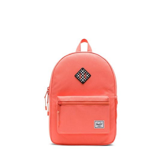 Herschel Heritage Youth Rygsæk Fresh Salmon/Checkerboard Fresh Salmon Checkerboard Rubb