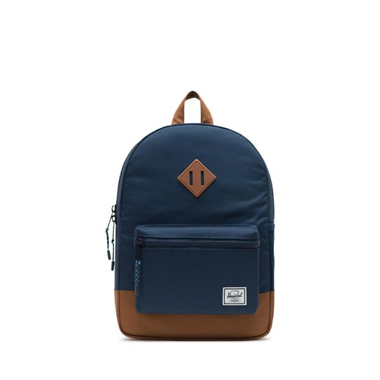 Herschel Heritage Youth Ryggsäck Mörkblå/Saddle Brown Navy Saddle brown