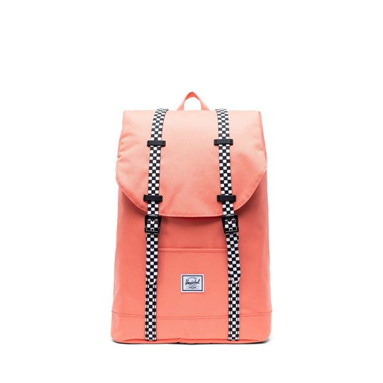 Herschel Retreat Youth Backpack Fresh Salmon/Checkerboard Fresh Salmon Checkerboard Rubb