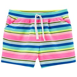 Carter's Stripe French Terry Shorts Pink/Blue
