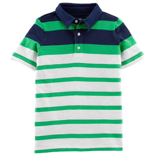 Carter's Stripe Polo Shirt Green/Navy STRIPE (984)