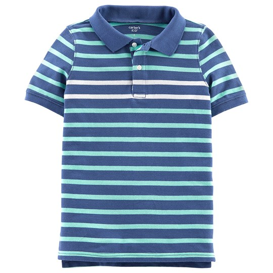 Carter's Stripe Polo Shirt Green/Blue STRIPE (984)