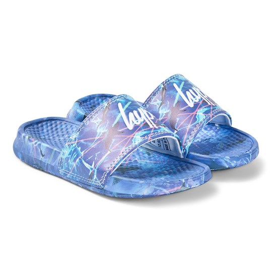 Hype Blue Deep Water Slides Blue/Multi
