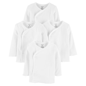 "Image of Carter""s 4-Pack Side Snap Tees White 6 mdr' (1329259)"