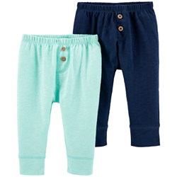 Carter's 2-Pack Baby Pants Turquoise/Navy