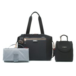 Storksak Stevie Luxe Scuba Changing Bag Black