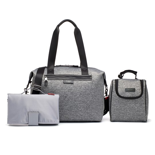 Storksak Stevie Luxe Scuba Changing Bag Grey Marl Grey Marl