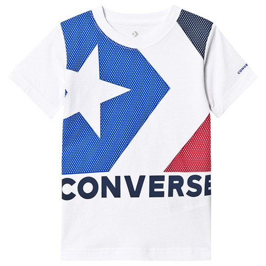 Converse White Box Star Chevron Colour Block T-Shirt 001