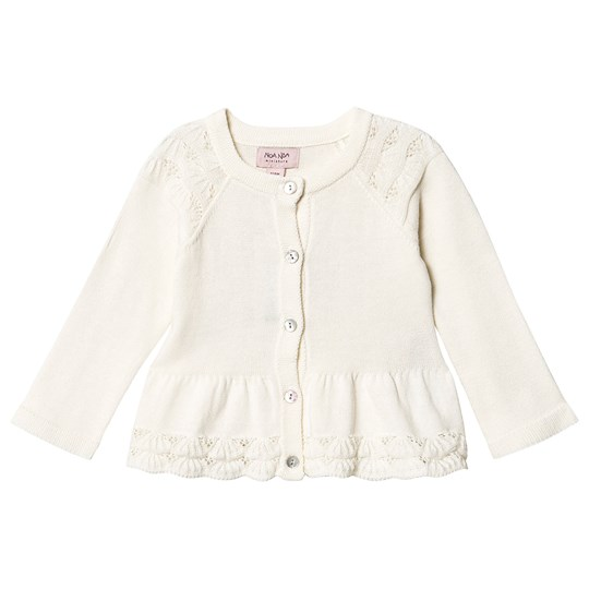 Noa Noa Miniature Cardigan Long Sleeve in Off White Whisper white