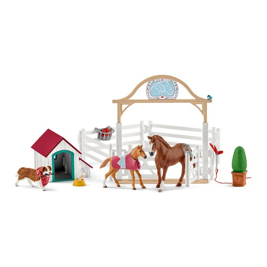 Schleich Hannah´s Guest Horses with Dog