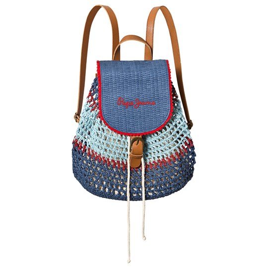Pepe Jeans Beige Macrame Branded Backpack 0AA