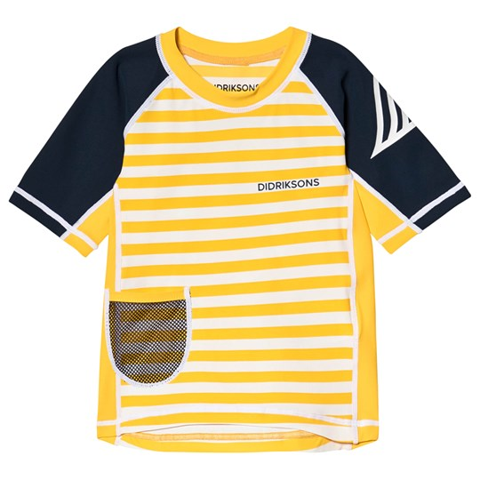 Didriksons Surf Rashguard Yellow Simple Stripes Yellow