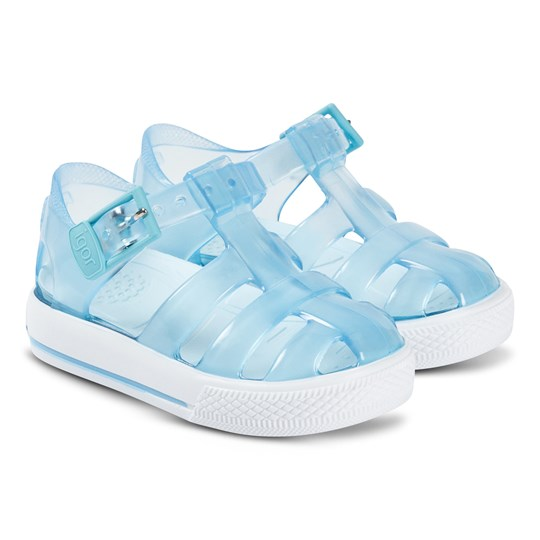 Igor Crystal Blue Tennis Jelly Sandals 089