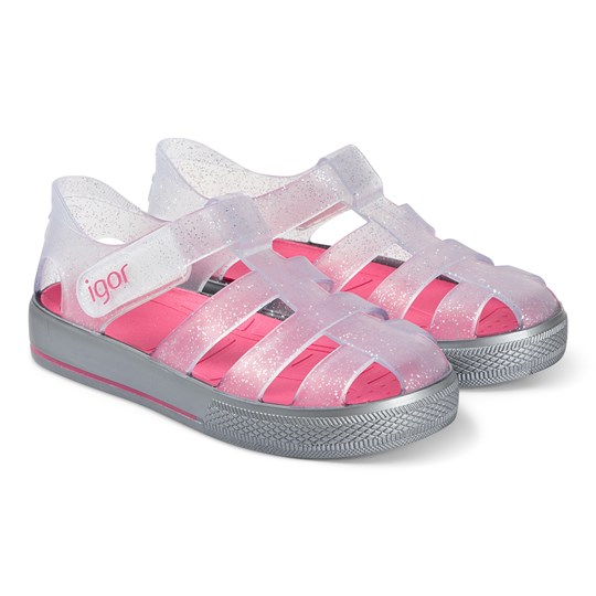 Igor Transparent and Pink Star Jelly Sandals 075