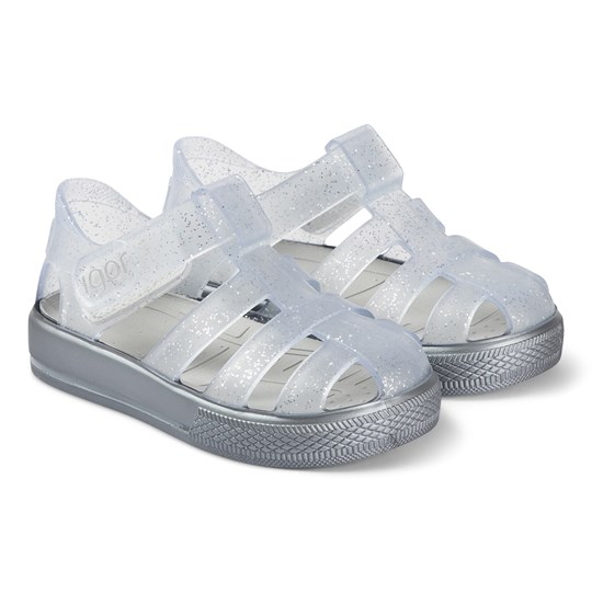 Igor Transparent and Silver Star Jelly Sandals 135